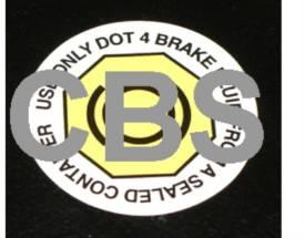 Picture of IVA Brake Fluid Sticker Single