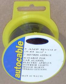 Picture of 5 Amp Single Black 7 Metre Reel