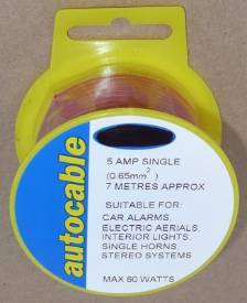 Picture of 5 Amp Single Red 7 Metre Reel