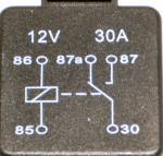 Picture of Black Change-Over Relay 30 Amp 5 Pin