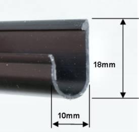 Bild von Geformter Schwarzer PVC-'J'-Profil Dachsteg