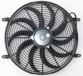 """Picture of 16"""" Electric Cooling Fan Curved Blade"""