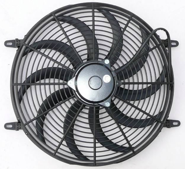 "Picture of 16"" Electric Cooling Fan Curved Blade"