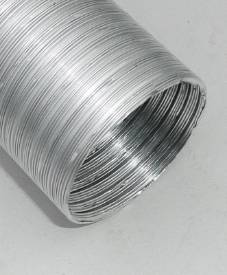 """Picture of 60mm ID (2 3/8"""") Aluminium Ducting 500mm"""