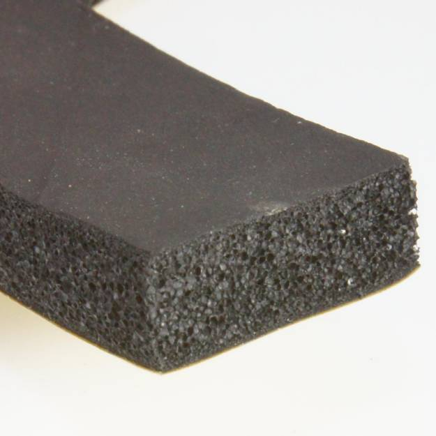 Picture of 25 x 10mm Self Adhesive Foam Rubber Strip Per Metre