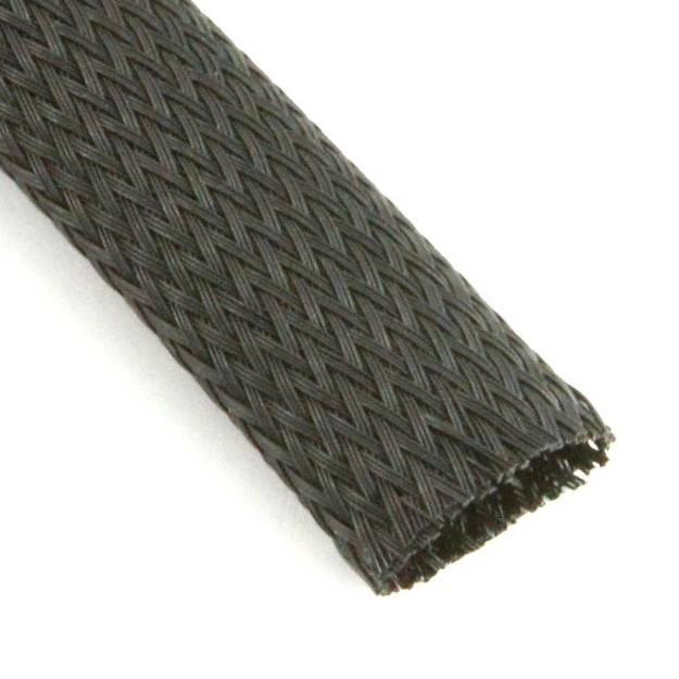 Picture of Black Nylon Cable Overbraid 19mm Per Metre