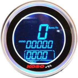 Picture of Digital Speedometer / Fuel Gauge Black Face Stainless Bezel 61mm