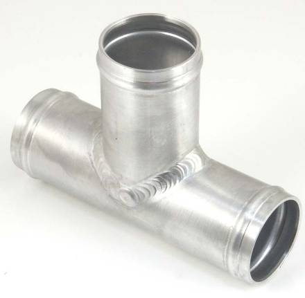 Custom Bespoke Aluminium Coolant T Piece Pipe Joiner for Silicone /& Rubber Hose