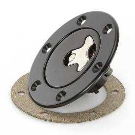 Picture of 94mm Locking Aero Fuel Cap Assembly Satin Black Tank Mount Flush Fit No Neck