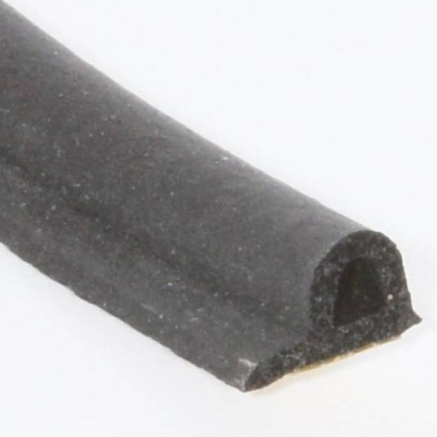 Picture of 9mm x 6mm Self Adhesive Neoprene Rubber 'P' Section Per Metre
