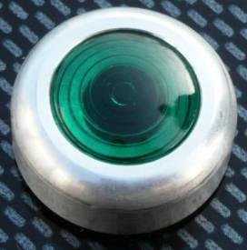 Bild von Grüne Warnleuchte Groß Aluminiumfassung