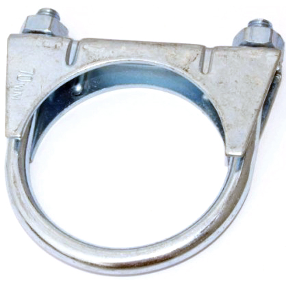 3 1//8 Qty 5 Exhaust U Clamps With Nuts 79Mm