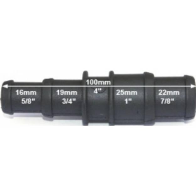 Picture of Schwarzer Abgesetzter Nylon-Reduzierverbinder 16/19mm - 25/22mm