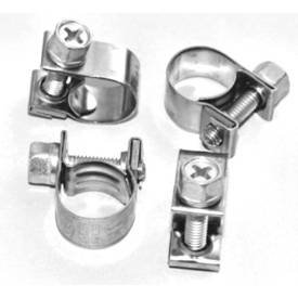 Picture of Stainless Steel Fuel Hose Clips 9-11mm Pack of 4