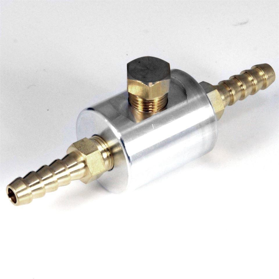 Fuel Pressure Gauge Inline Adapter For 6mm Hose Car