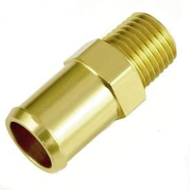Picture of 1/4 NPT Gold Anodised Aluminium Straight 15mm Hosetail