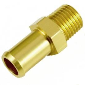 Picture of 1/4 NPT Gold Anodised Aluminium Straight 12mm Hosetail