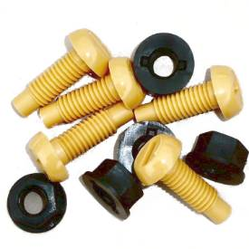 Picture of Yellow Number Plate Bolts With Nut Pack Of 5