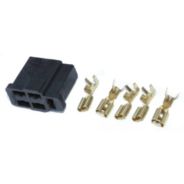 Picture of Lucas Windscreen Wiper Motor Plug With 5 Terminals