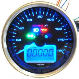 Picture of 69mm Black Face Electronic Analogue Speedo - PLUS