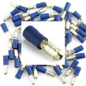 Picture of Pre Insulated Blue Male Bullet. Pack of 50