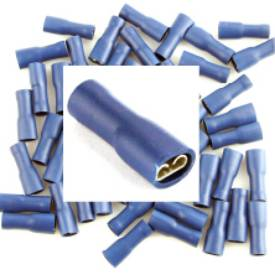 Picture of Pre Insulated Blue 4.8mm Female Spade. Pack of 50