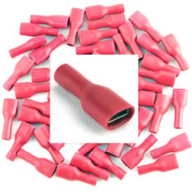 Picture of Pre Insulated Red Female Spade. Pack of 50