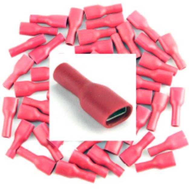 Picture of Vorisolierter roter weiblicher Spaten. Packung mit 50 Stück