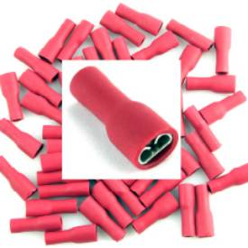 Picture of Pre Insulated Red 5mm Female Spade. Pack of 50