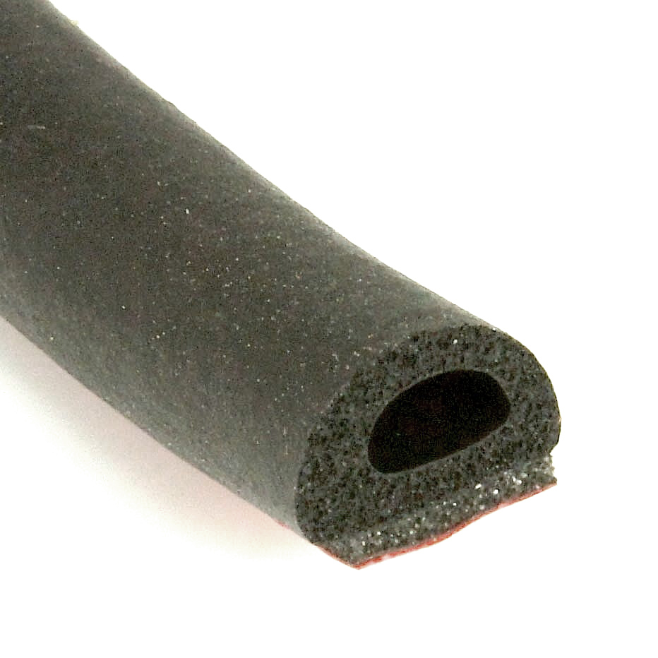 10mm X 7mm Self Adhesive Neoprene Rubber D Section Per