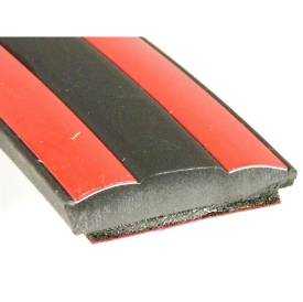 Picture of Black With Red Infill 21.7 X 4.4 Per Metre