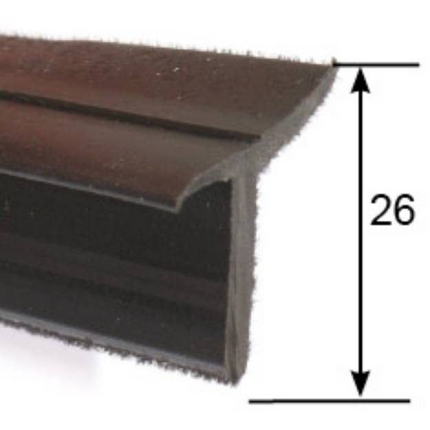 Picture of Flocked Window Trim Drip Seal Per Metre
