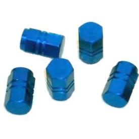 Bild von Reifen-Staubkappen Blau