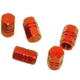 Bild von Reifen-Staubkappen Rot