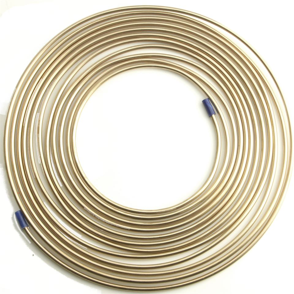 of 3//16 Copper Nickel Brake Line with Fittings 25 Ft 4.75 mm