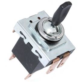 Picture of Lucas Style Black Paddle Toggle Switch Off On On