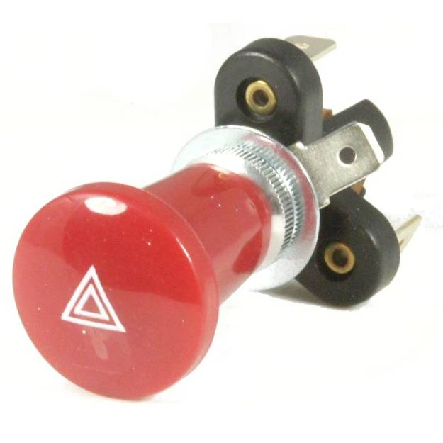 Picture of Push Pull Hazard Switch 24mm Red