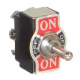 Picture of Double Pole On-Off-On Chrome Toggle Switch