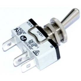 Picture of Knurled Ring Toggle Switch Off-On Spring Return Single Pole