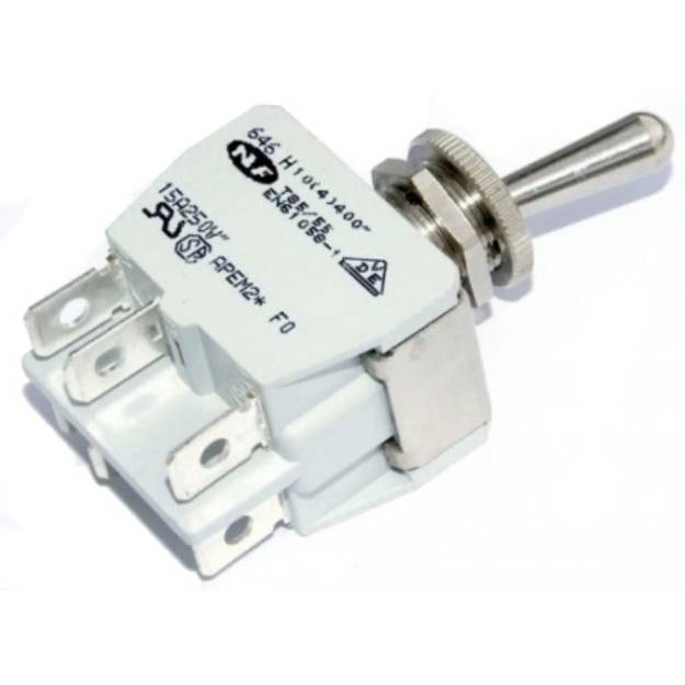 Picture of Knurled Ring Toggle Switch On-On Changeover Double Pole