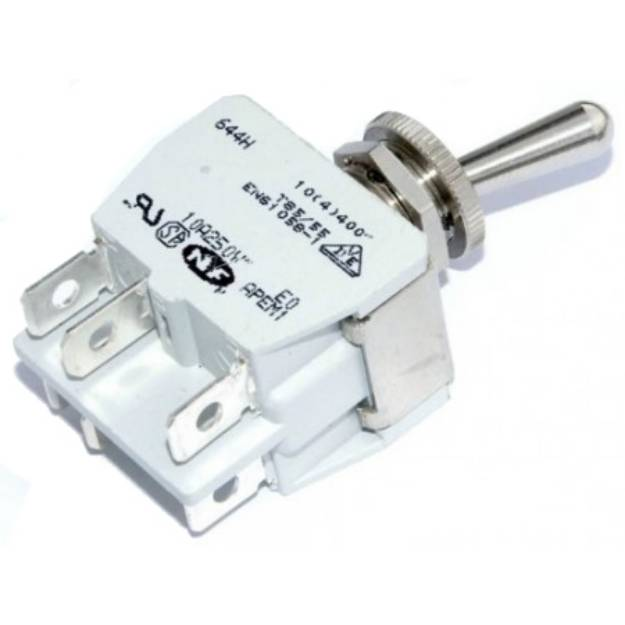 Picture of Knurled Ring Toggle Switch Off-On-On 3 Position