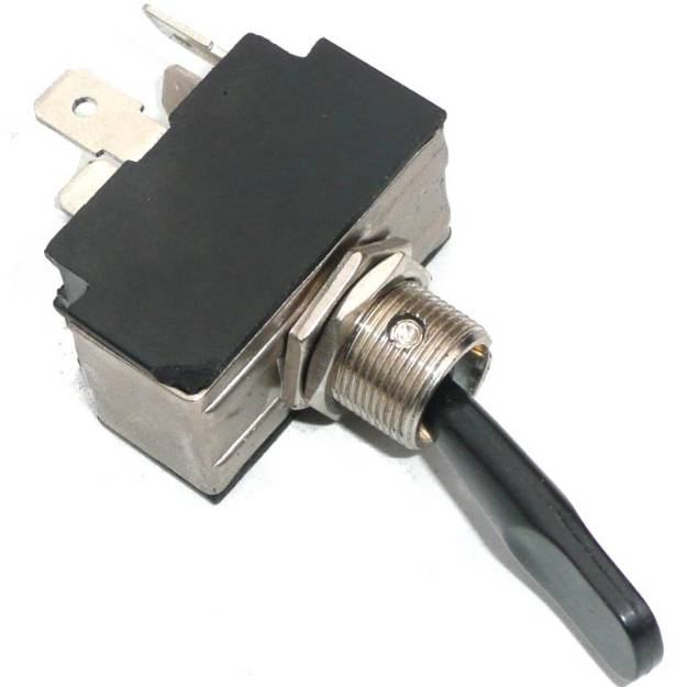 Picture of Black Lever Toggle Off-On(1)-On(1+2)