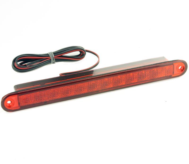 Hella LED Strip Third Brake Light Red Lens 258mm