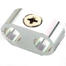 Picture of 2 Way 8mm Cable or Hose Separator Silver