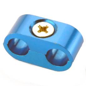 Picture of 2 Way 8mm Cable or Hose Separator Blue