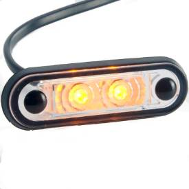 Picture of LED Side Repeater / Marker Lamp Clear Lens 83mm