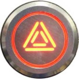 Picture of Natural Billet Aluminium Hazard Switch
