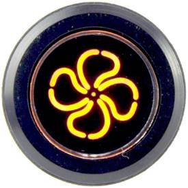 Picture of Black Billet Aluminium Fan Warning Light