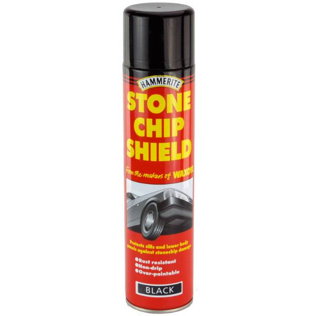 Picture of Hammerite Stonechip Aerosol Black 600ml