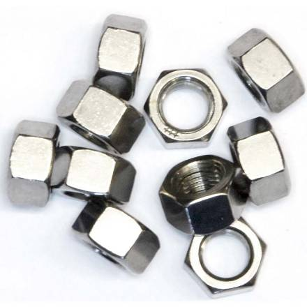 716-unf-stainless-plain-nuts-pack-of-10